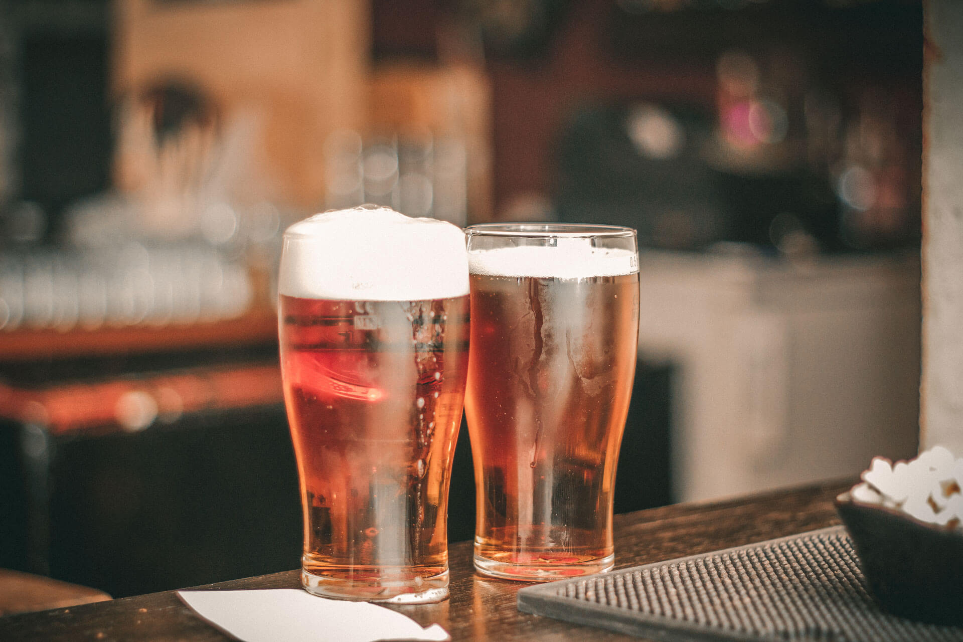 Pints of beer on St. Patrick's Day