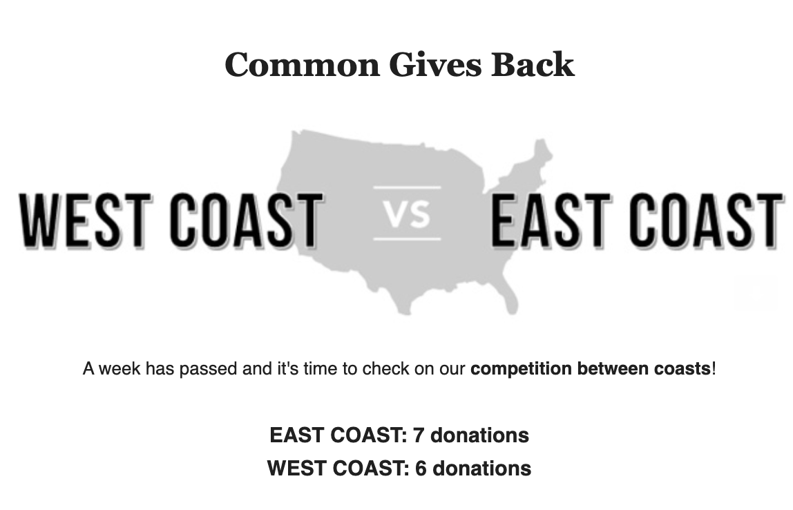 common give back